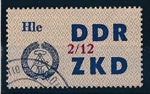 DDR ZKD Nr.  37 XII    amtlich ungültig gestempelt  (f9083  ) siehe scan  !