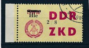 DDR ZKD Nr.  52 VIII  amtlich ungültig gestempelt  (f9107  ) siehe scan  !