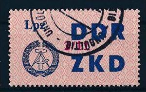 DDR ZKD Nr. 39 XI   amtlich ungültig gestempelt  (f9113  ) siehe scan  !