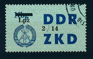 DDR ZKD Nr.  54 XIV   amtlich ungültig gestempelt  (f9154  ) siehe scan  !