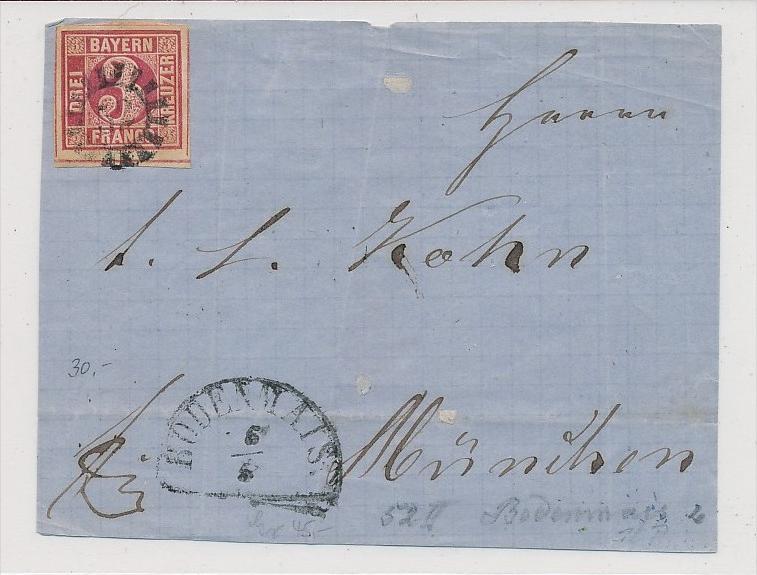 Bayern  -  Briefvorderseite  Bodenmais ( bc 4150 ) siehe scan !