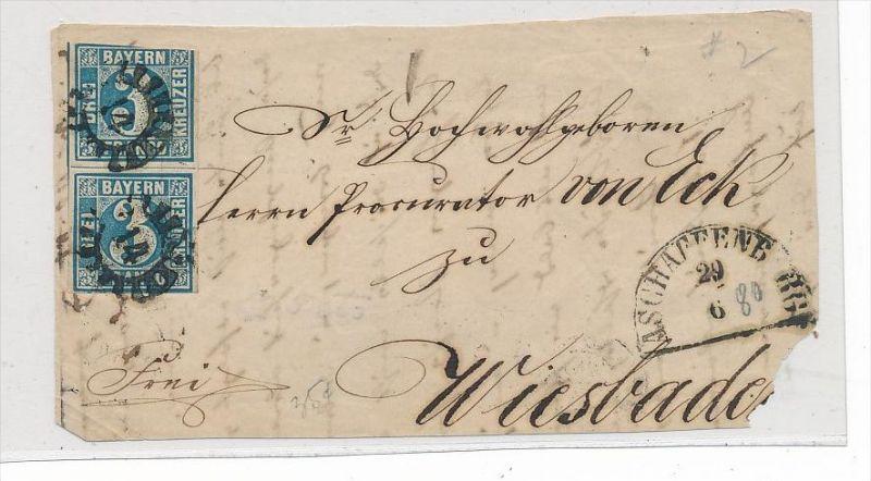 Bayern  -  Briefvorderseite  Paar Nr.2 ( bc 4149 ) siehe scan !