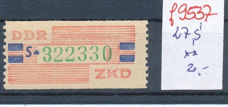 DDR -ZKD Nr. 27 S ** (f9537 ) siehe Bild  !