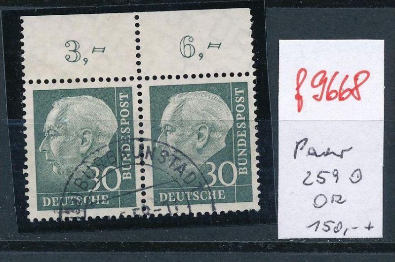 BRD Paar  Heuss  259 o  OR  (f9668 ) siehe Bild  !