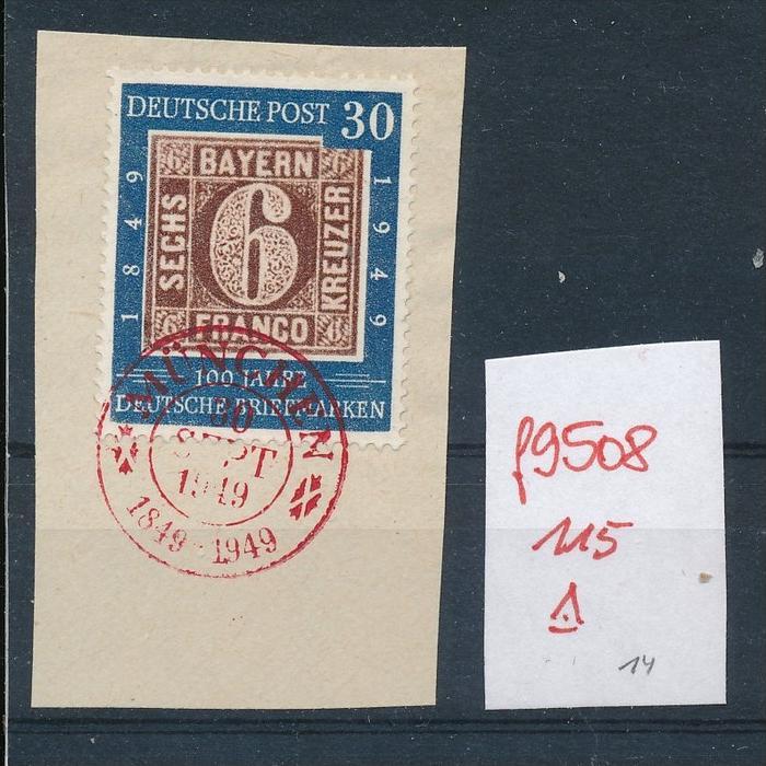 BRD Nr. 115 super Briefstück   (f9508   ) siehe Bild !!