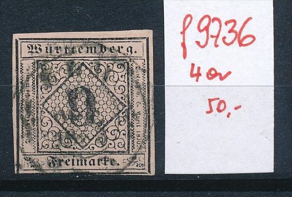Würtemberg  Nr. 4a   o  (f9736 ) siehe Bild vergrößert !