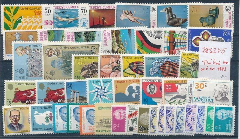 Türkei Top Lot **/MNH  ex 1983 (  zz6245 ) siehe Bild !