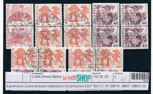 Schweiz Lot Zusammendrucke  Volksbräuche  (bc4399 ) siehe Bild+Beschreibung !!