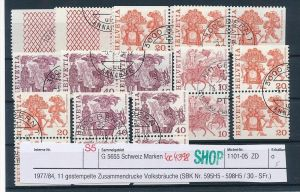 Schweiz Lot Zusammendrucke  Volksbräuche  (bc4398 ) siehe Bild+Beschreibung !!