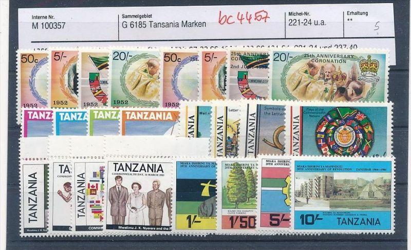 Tansania schönes  Lot  **    (bc4457 ) siehe Bild !!