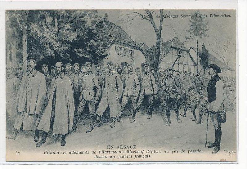 alte Postkarte - Militär  ^-Kriegsgefangene   (da 4116   ) siehe scan !