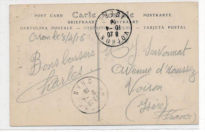 Frankreich Feldpost Karte -Mariene    (da 4115   ) siehe scan !