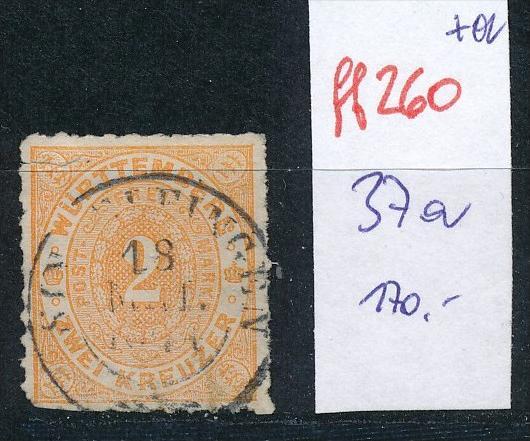 Würtemberg   Nr. 37a     o    (ff260 ) siehe scan !