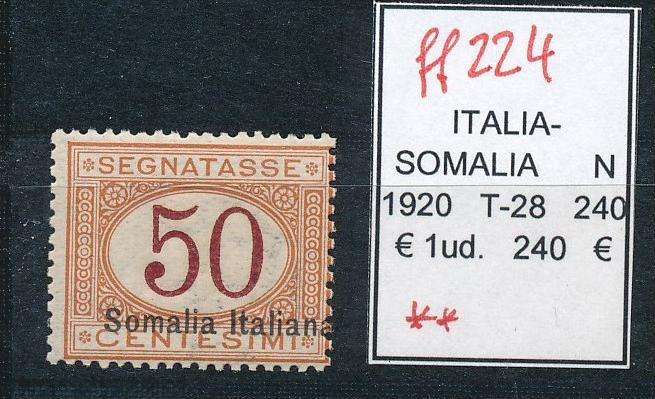 Italien /Somalia  T-28    -Sassone ? **    (ff224 ) siehe scan !