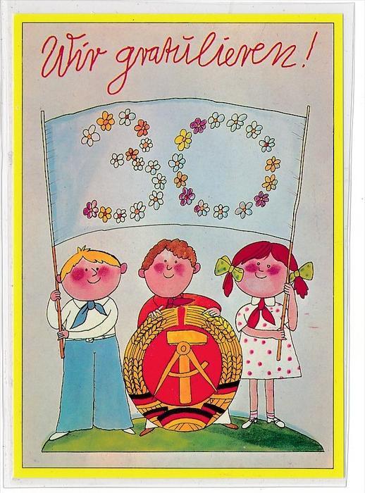 DDR Propaganda Karte    ungebraucht nicht häufig  ( bc4970 ) siehe Bild !