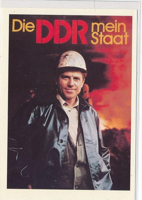 DDR Propaganda Karte    ungebraucht nicht häufig  ( bc4969 ) siehe Bild !