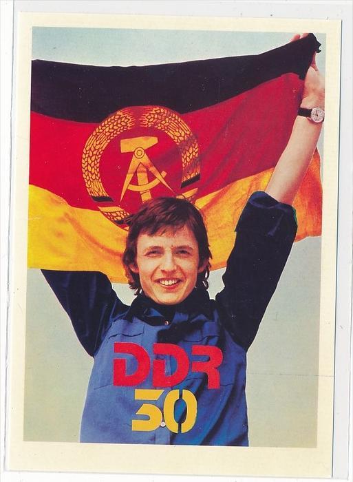 DDR Propaganda Karte    ungebraucht nicht häufig  ( bc4967 ) siehe Bild !
