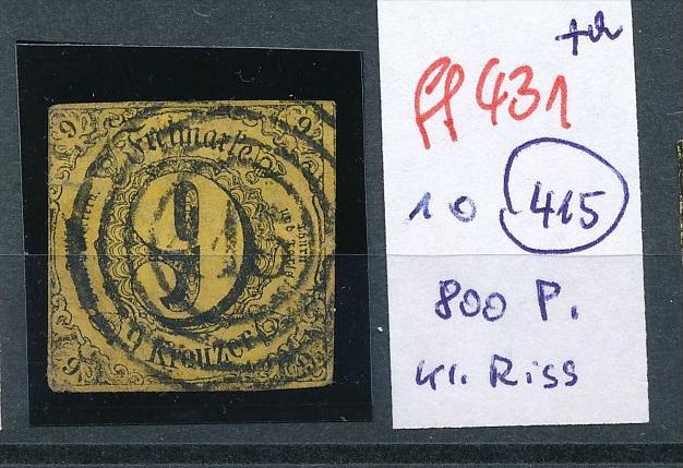 Thurn&Taxis  Nr. 10   o Stempel !!! kleiner Einriss   (ff431 )  siehe scan  !