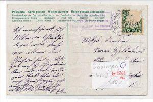Bayern-Karte Posthilfsstelle-  Dösingen   (bc5262 ) siehe scan  !