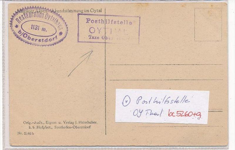 Bayern-Karte Posthilfsstelle-  OYTHAL  (bc5260 ) siehe scan  !