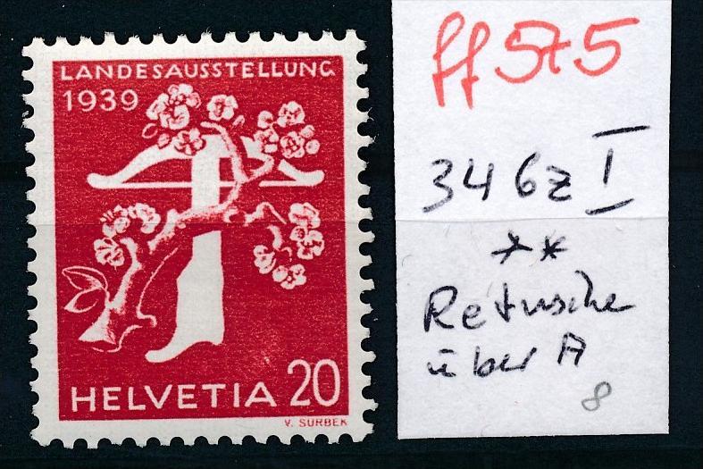 Schweiz Nr.  346 z I  ** (ff575 ) siehe scan vergrößert !
