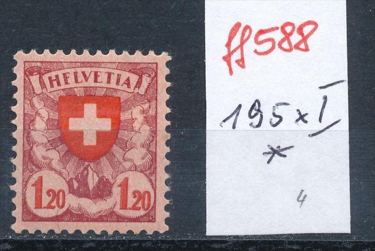 Schweiz Nr. 195 x I  * (ff588 ) siehe scan vergrößert !