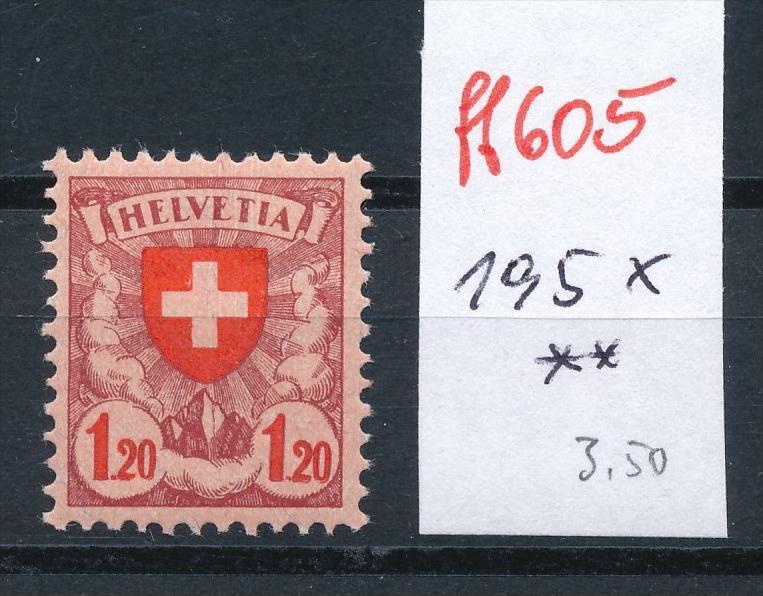 Schweiz Nr. 195 x  ** (ff605 ) siehe scan vergrößert !