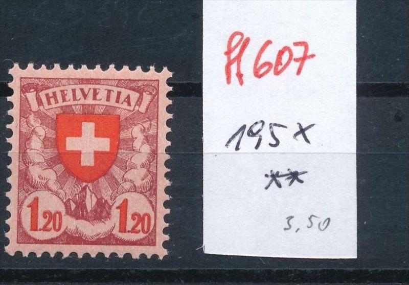 Schweiz Nr. 195 x  ** (ff607  ) siehe scan vergrößert !