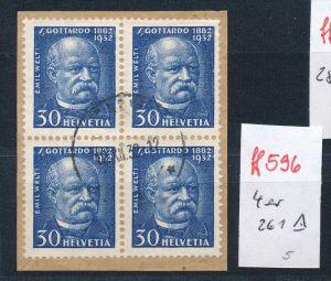 Schweiz   Nr. 4x 261 o  (ff596  ) siehe scan vergrößert !