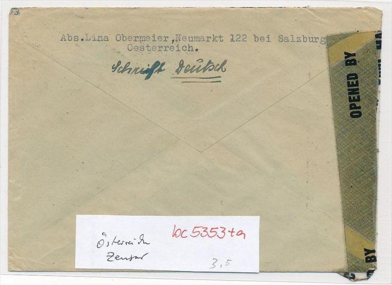 österreich Zensur Brief Bc 5353 Siehe Scan Nr 307055968