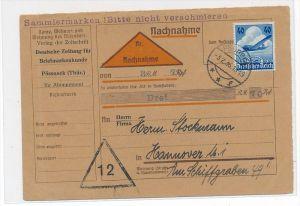 D.-Reich Nachnahme Karte EF.603   (zz6603  ) siehe scan !