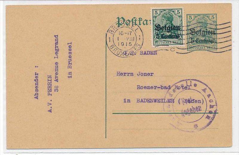 D.-Reich Ganzsache -D.-Post Belgien  (bc5681  ) siehe scan !