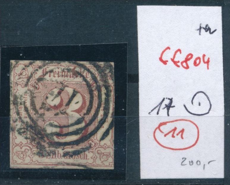 Thurn +Taxis Nr.  17  Stempel  11    (ff  804  ) siehe scan !