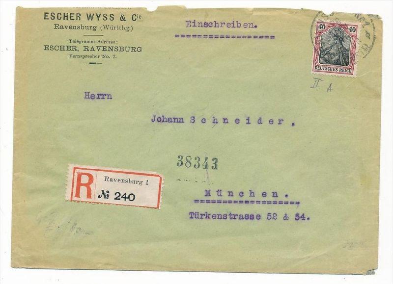 Germania Beleg   -Bedarf  Absender entfernt(zz6663 ) siehe scan !