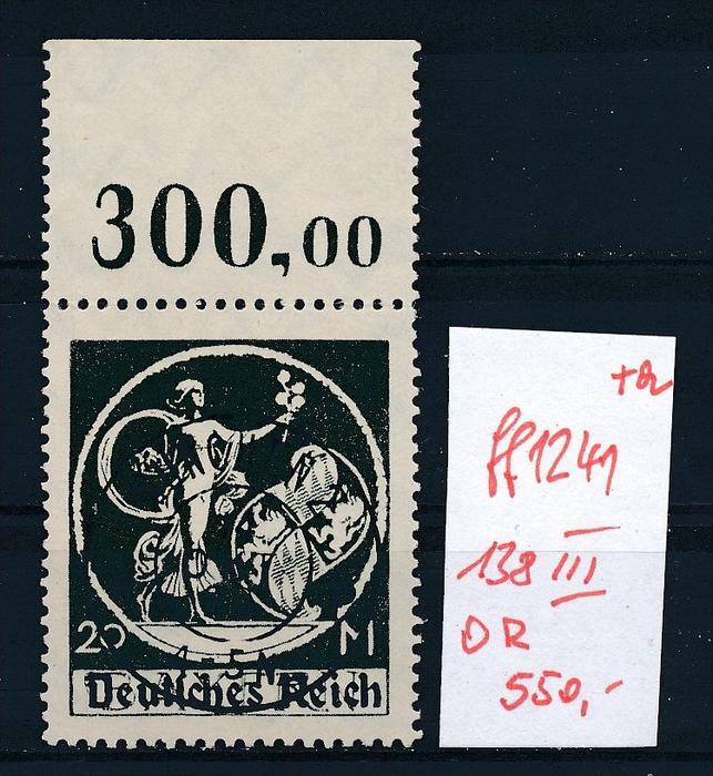 D.-Reich Nr.  138 I/ III  OR   o    geprüft ( ff1241 )siehe scan -vergrößert  !
