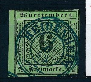 Würtemberg  Nr.  3a   o (ff1318 ) siehe scan !