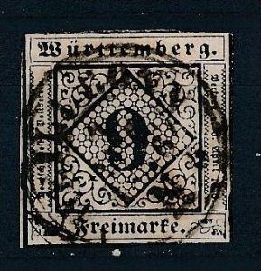 Würtemberg  Nr.  4 b  o (ff1319 ) siehe scan !