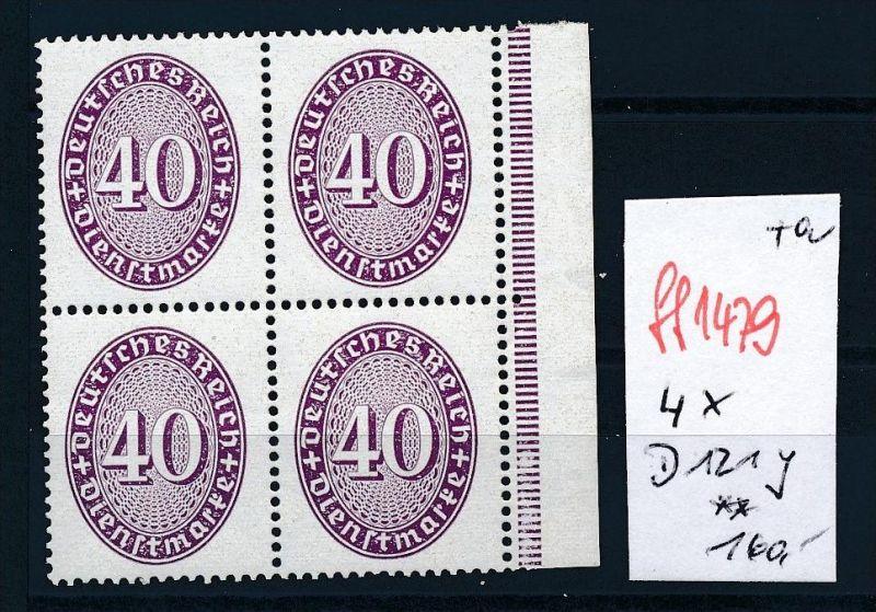 D.-Reich  Nr. 4x D121 Y  **   (ff1479 ) siehe scan !!