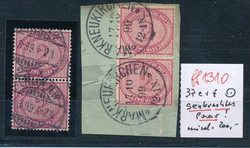 D.-Reich  Nr. 2 Paare  Nr.37   o   ( ff1310 ) siehe scan  !