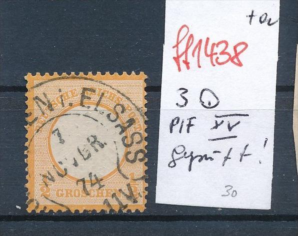 D.-Reich  Nr. 3  PLF. XV  geprüft    Stempel  !!   ( ff1438  ) siehe scan  !
