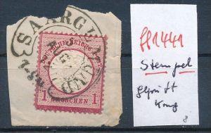 D.-Reich  Stempel  ..... geprüft   ( ff1441  ) siehe scan  !