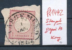 D.-Reich  Stempel  ..... geprüft   ( ff1442  ) siehe scan  !