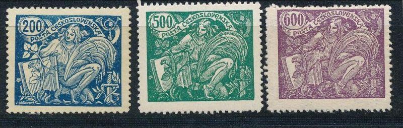 Tschechen  Nr. 184,187,188   *  (ff1650 ) siehe scan  !