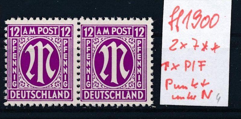 Britische Zone Nr. 2x7     ** Plattenfehler-Abart bitte lesen (ff1900   ) siehe scan !