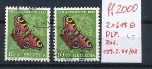 Schweiz  Nr. 2x 619   Zumst. 159.2.01/02  (ff2000   ) siehe scan  !