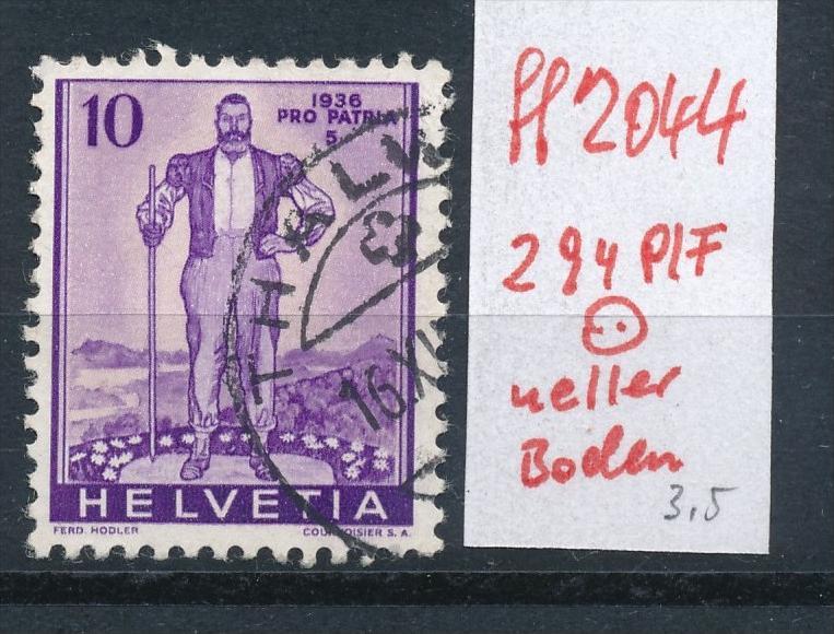 Schweiz  Nr.  294 PLF  o      (ff2044   ) siehe scan  !