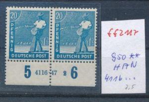 Zonen Nr. 950   ** Paar -HAN (ff2117  ) siehe scan +Beschreibung !!