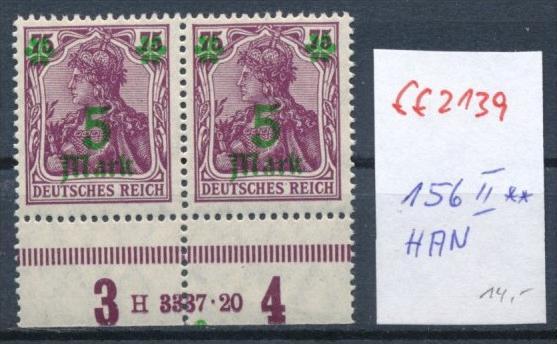 D.-Reich  Nr.156 II   **  -HAN (ff2139  ) siehe scan +Beschreibung !!