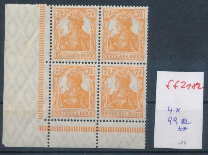 D.-Reich Nr. 4x 99 a  **      ( ff2182   )  siehe scan !