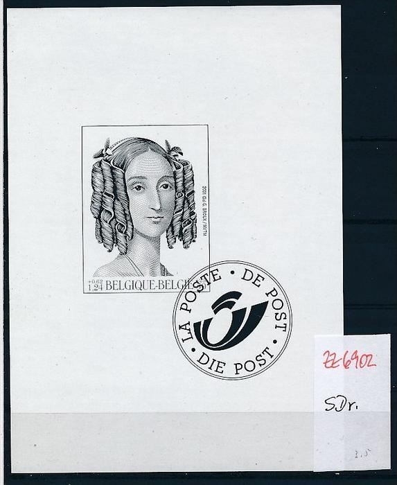 Belgien  Block  -Schwarzdruck    ( zz6902  ) siehe scan  !